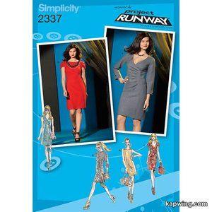 Project Runway Dress Pattern 3 Styles Size 12 - 20